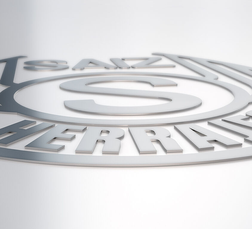 Logo Metálico Herrajes Sáiz